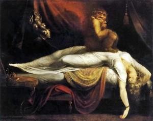 """""""O pesadelo"""" (1781), de Henry Fuseli."""