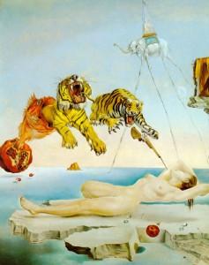"""""""Sonho (...) """" (1944), de Salvador Dali"""